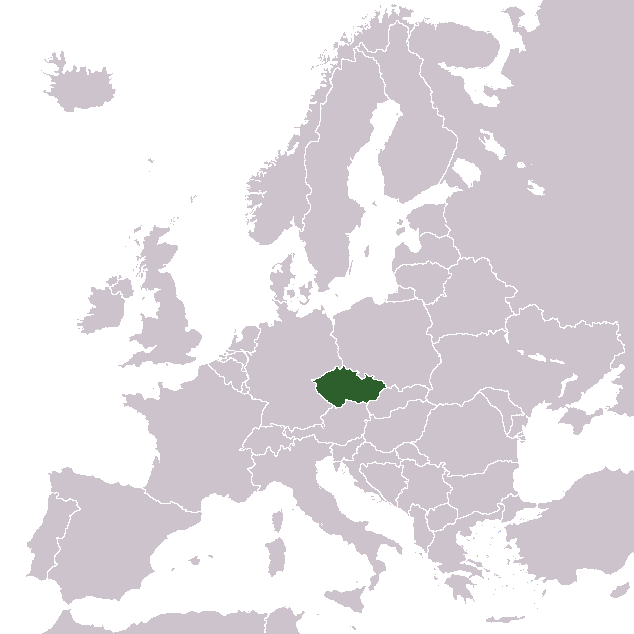 Europe Location Cz Mapsofnet