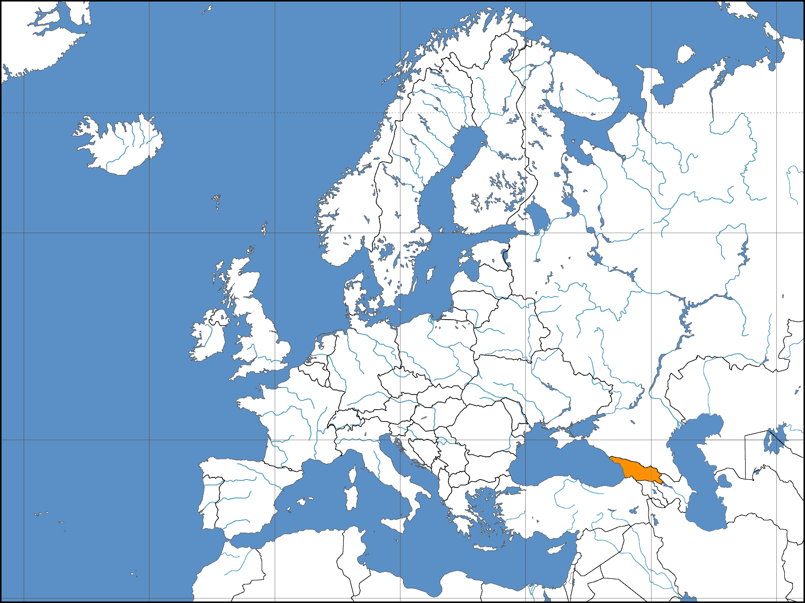 Europe Location Geo Mapsofnet