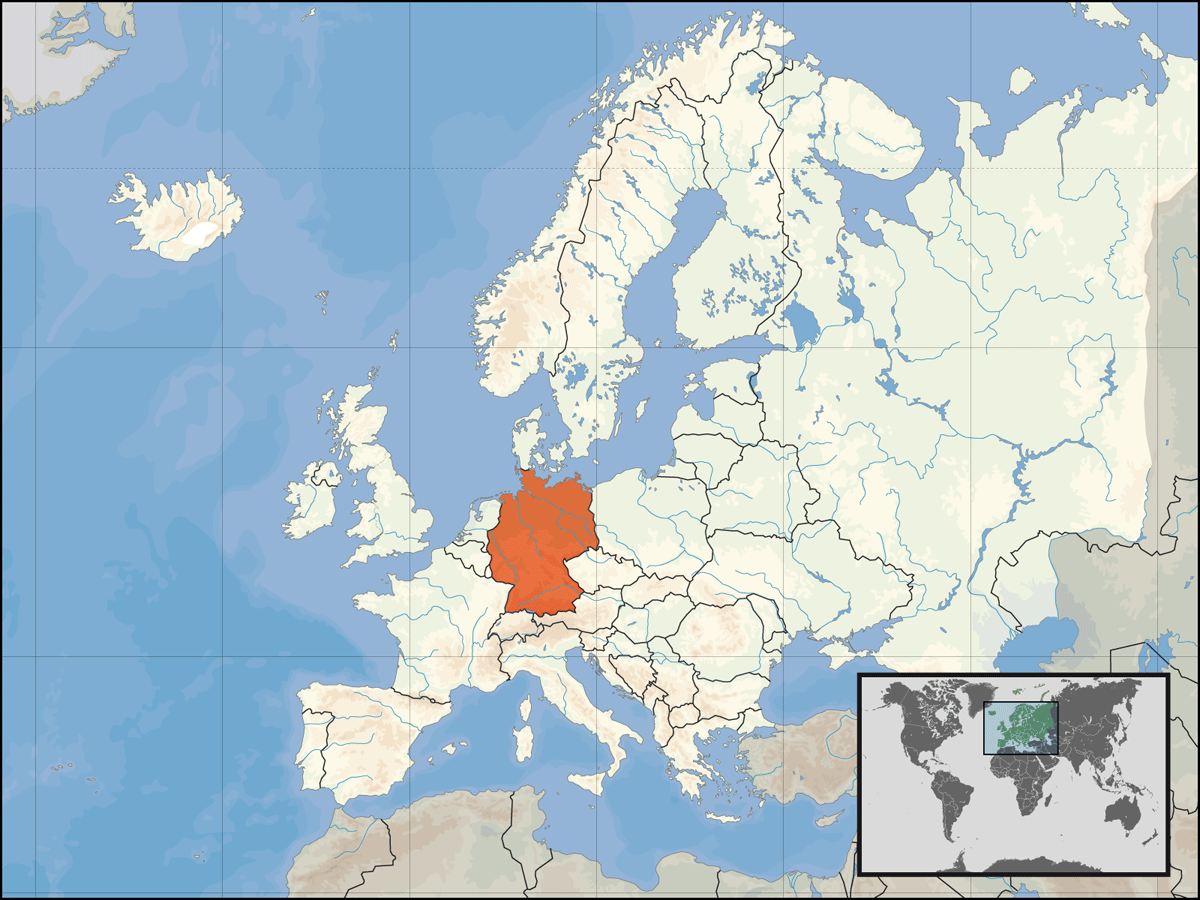 Europe Location Ger Mapsofnet