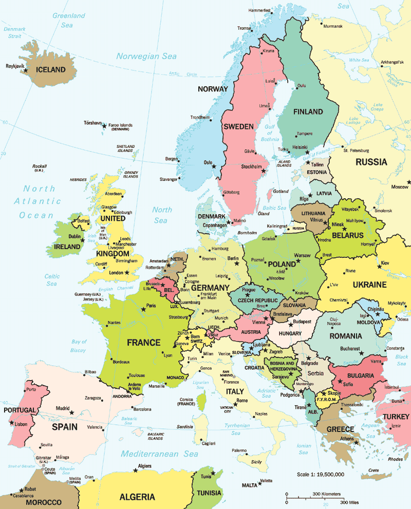 Europe Political Large Mapgif large map