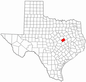 Falls County Texas large map