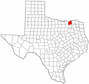 Fannin County Texas large map