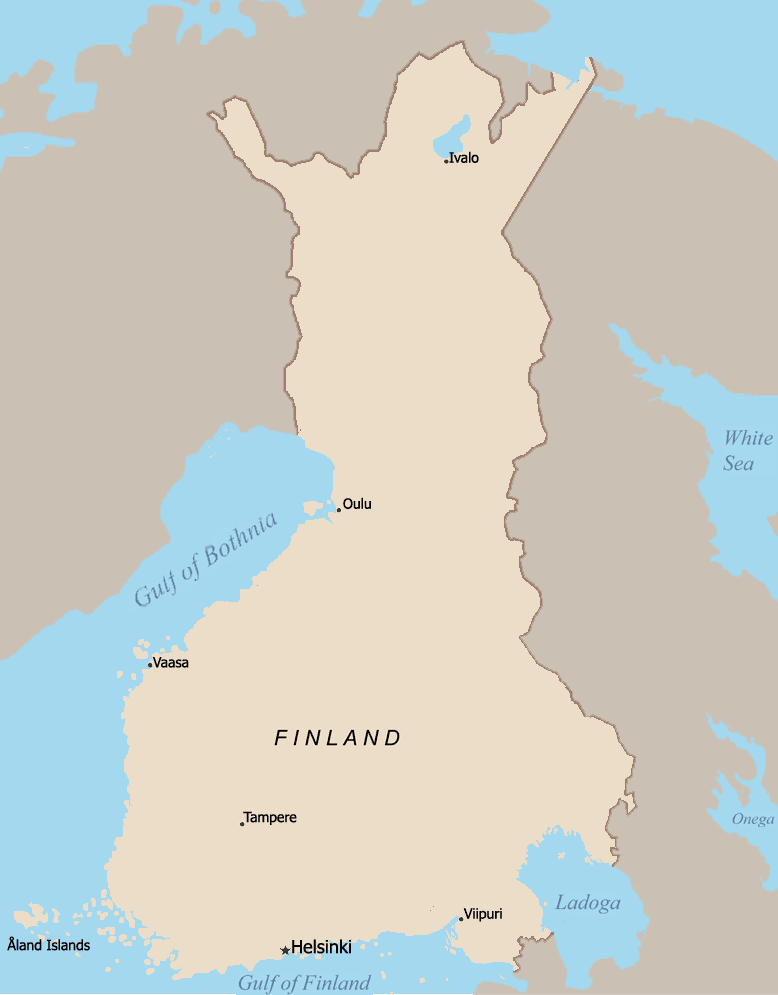 Finland 1920 large map