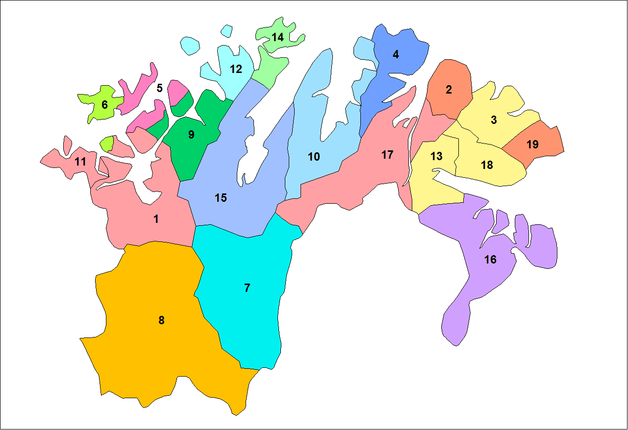Finnmark Municipalities large map