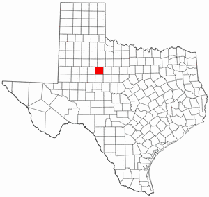 Fisher County Texas large map