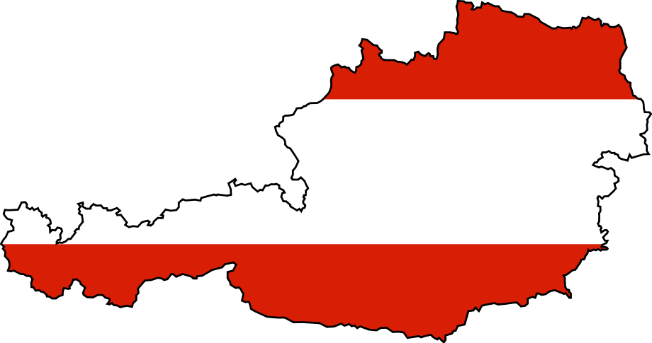 Flag Map of Austria \u2022 Mapsof