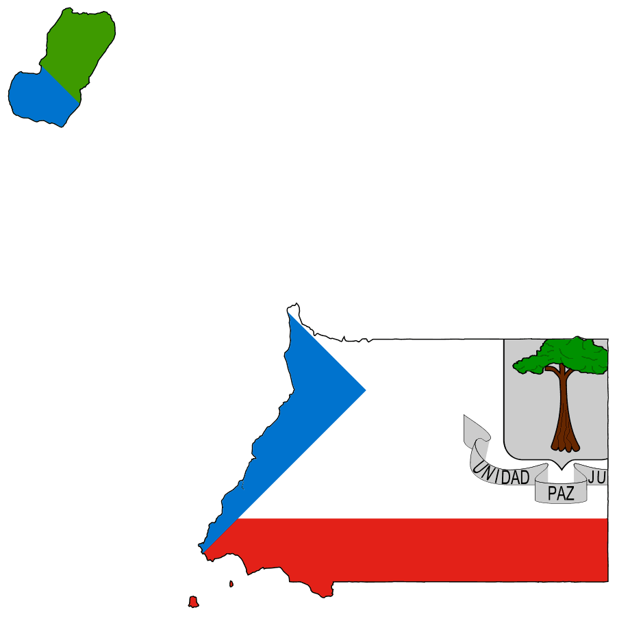 Flag Map of Equatorial Guinea large map