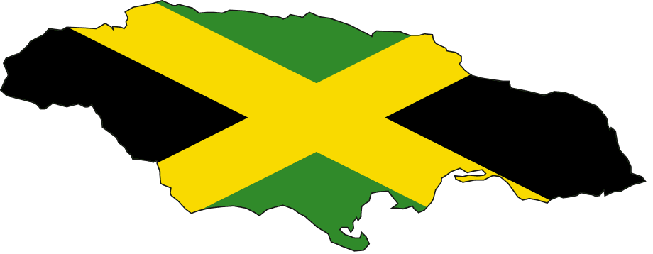 Flag Map of Jamaica large map
