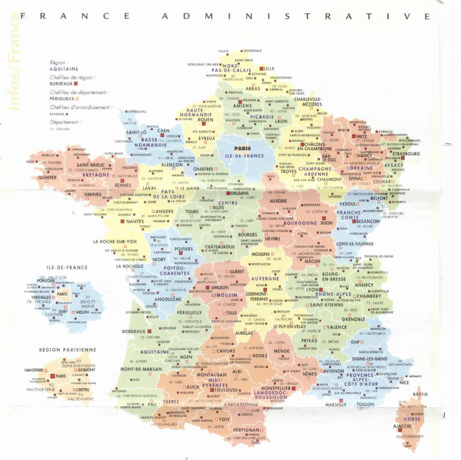 France Administrative Divisions • Mapsof.net