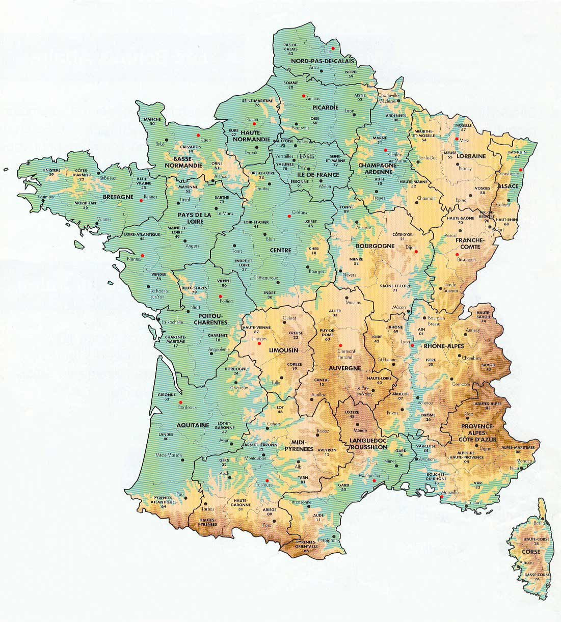 Map Of France Departments.France Departments Map Mapsof Net