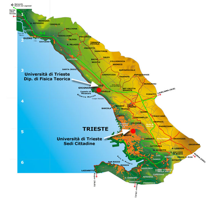 triest italie maps