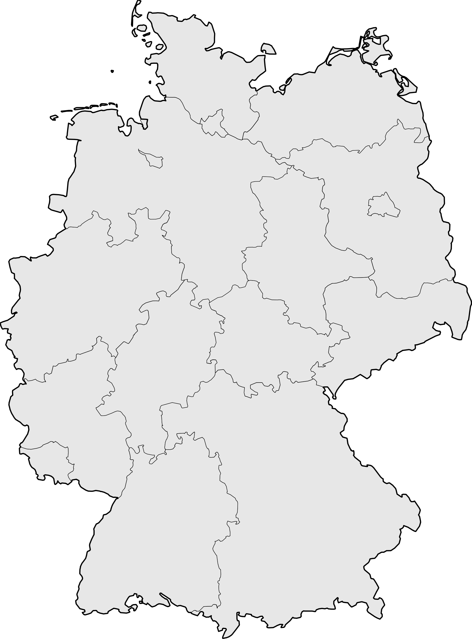 Germany Blank Map large map