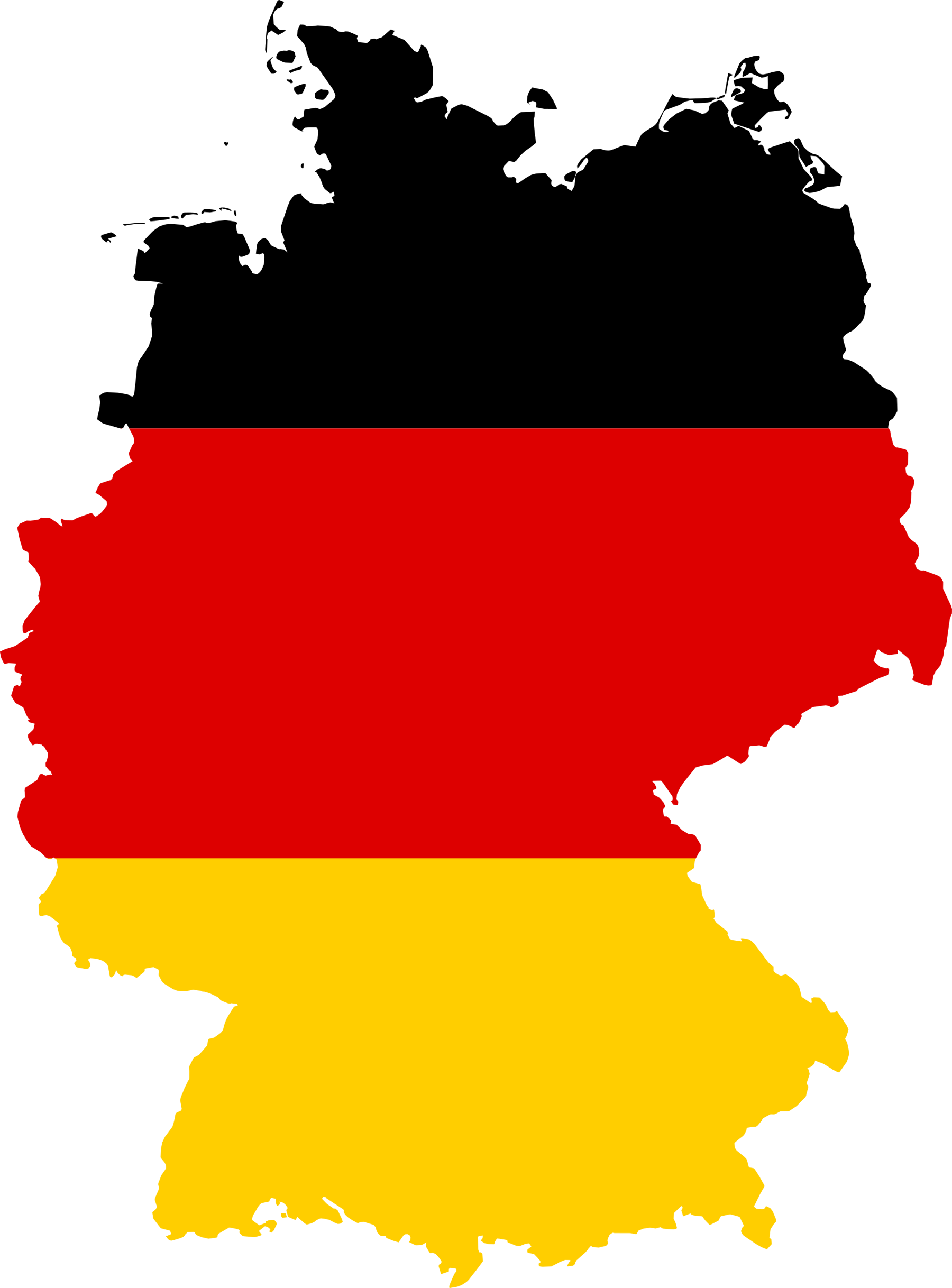 Click on the Germany Flag Map ...