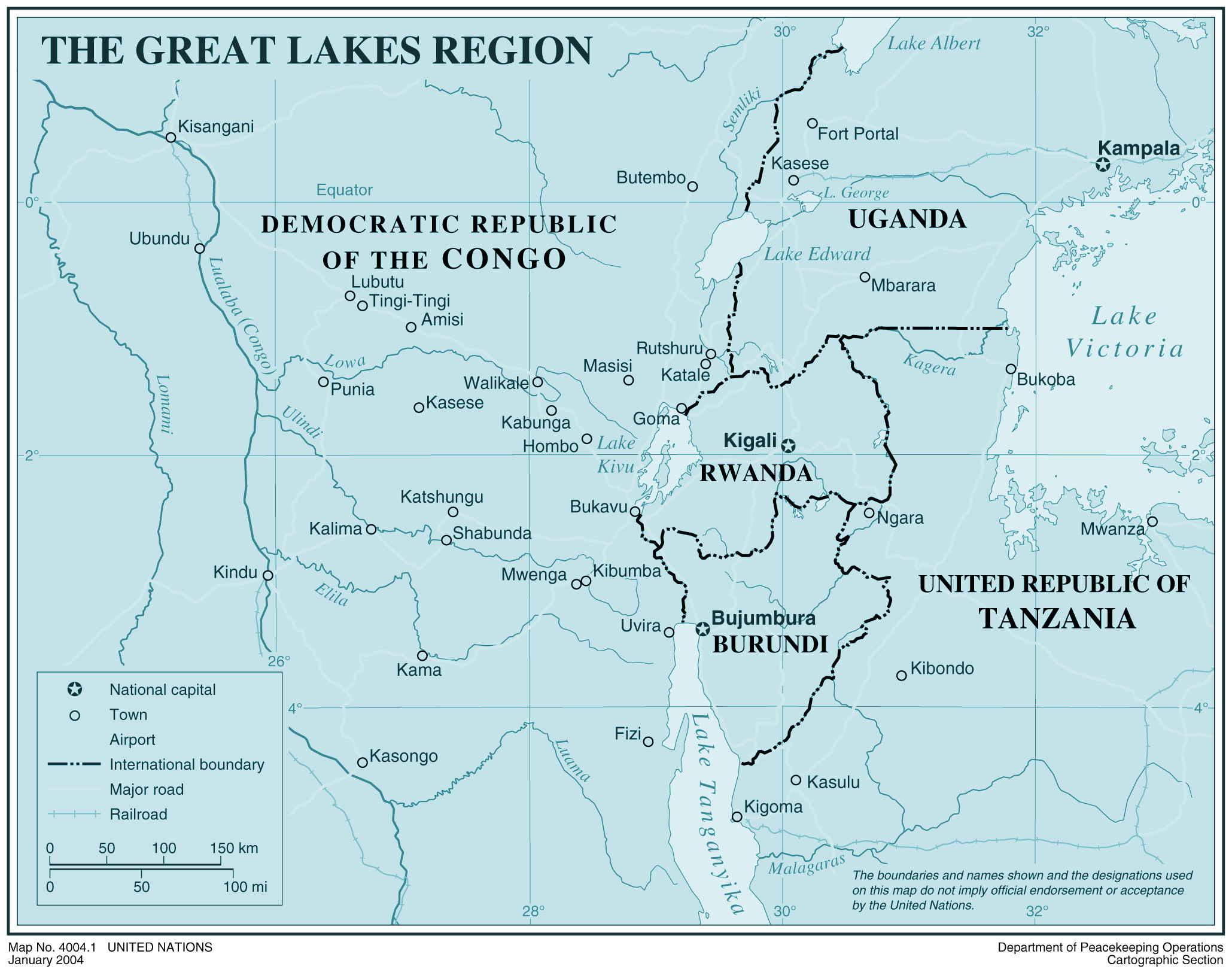 Africa Map Lakes.Great Lakes Region Mapsof Net