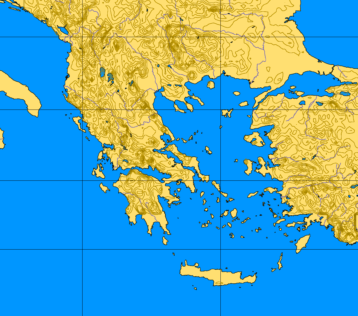 Picture of: Greece 34 43 17 30 Blank Map Mapsof Net