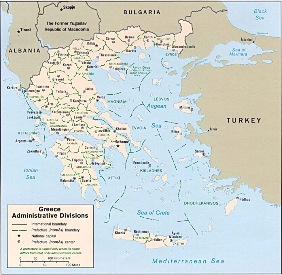 Greece Map large map