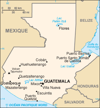Guatemala Carte large map