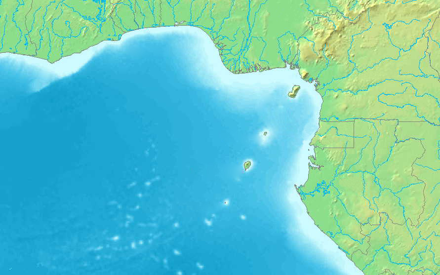 Gulf of Guinea (blank) 3 large map