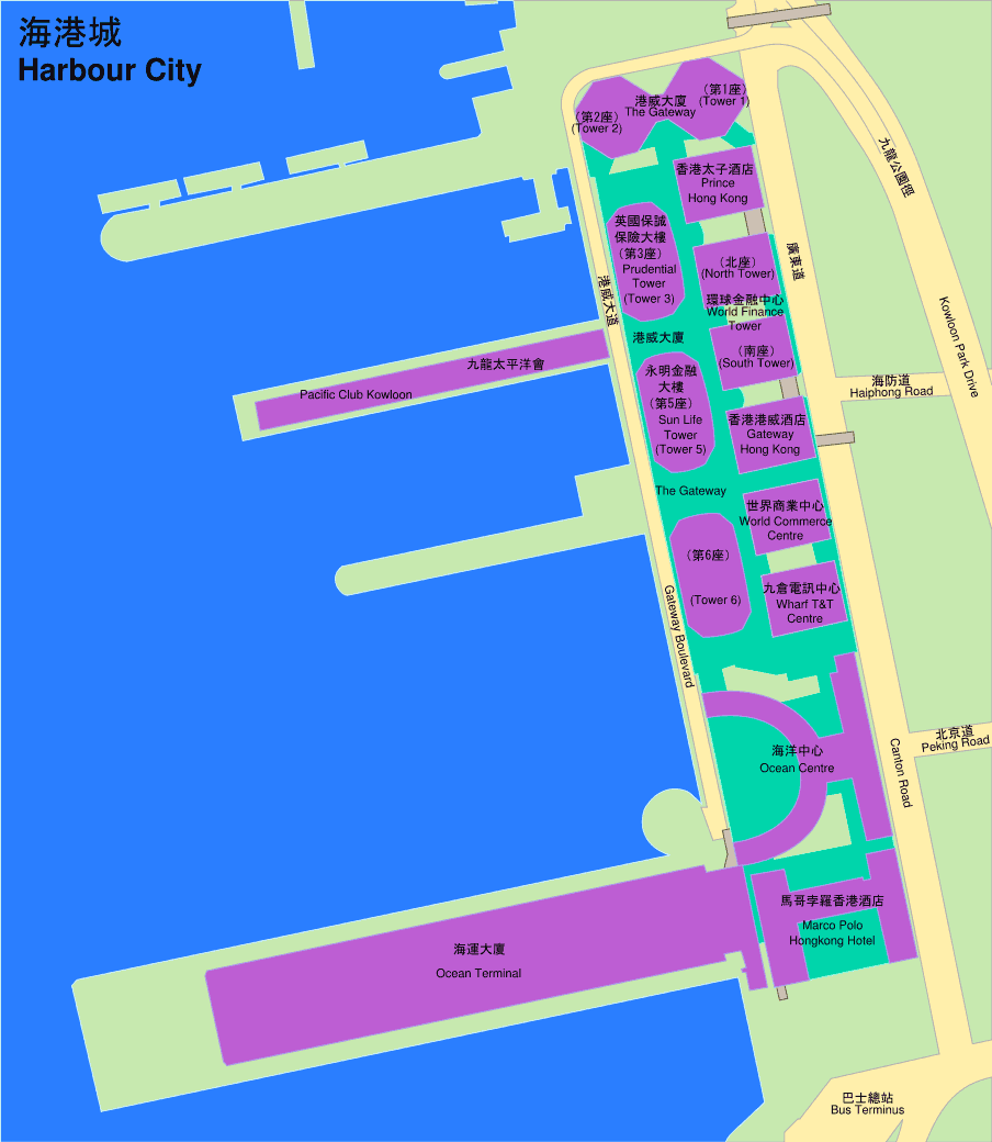 Harbour City large map