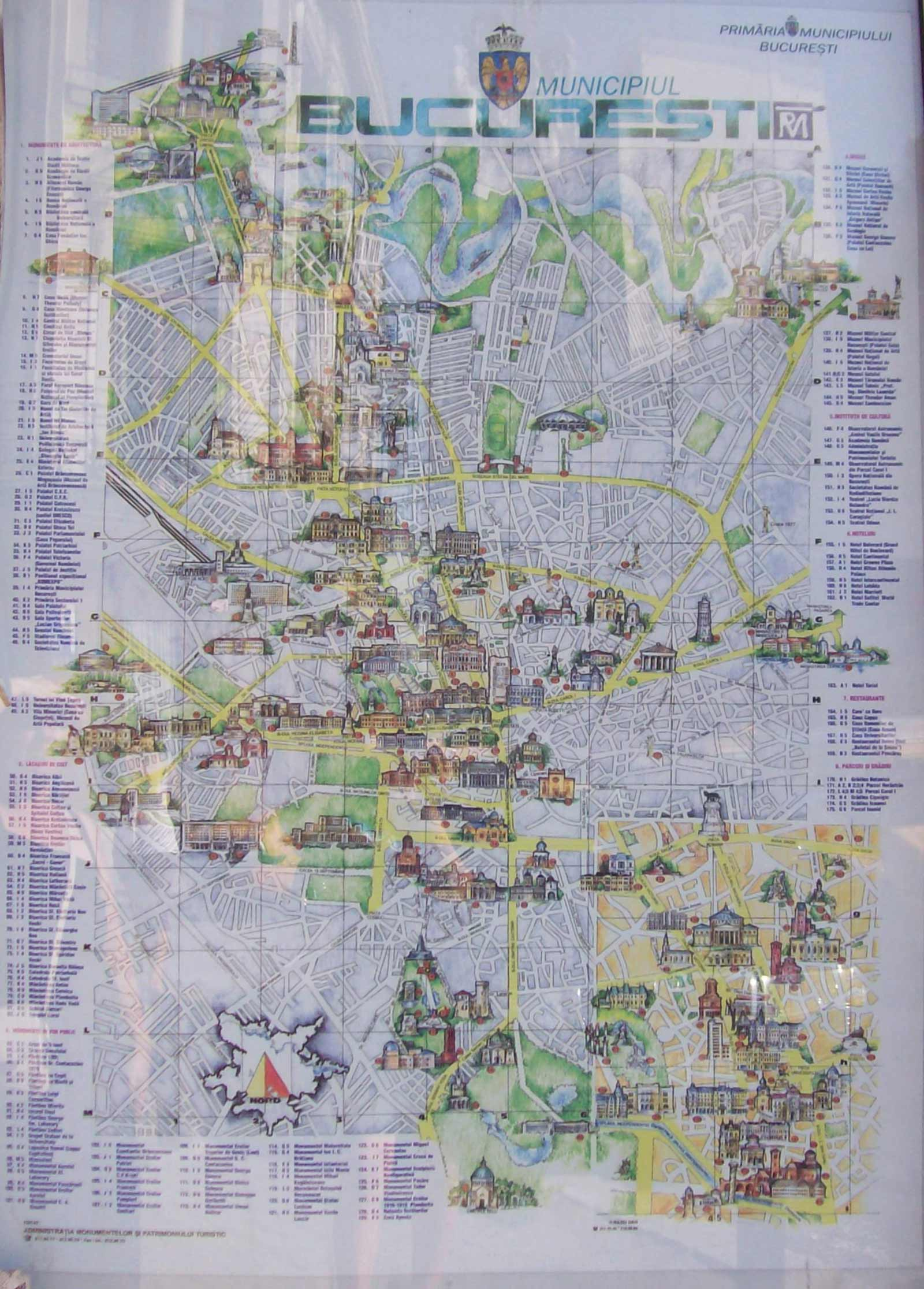 Harta Turistica Bucuresti large map