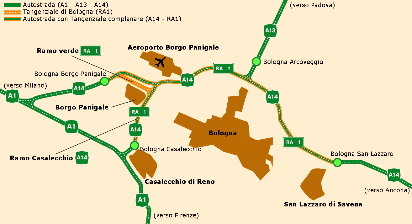 Highway System Map Bologna