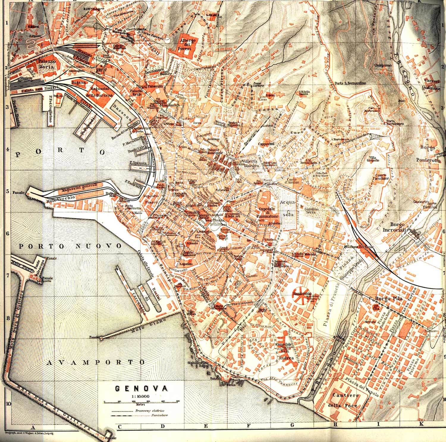 Historical Genoa City Map large map
