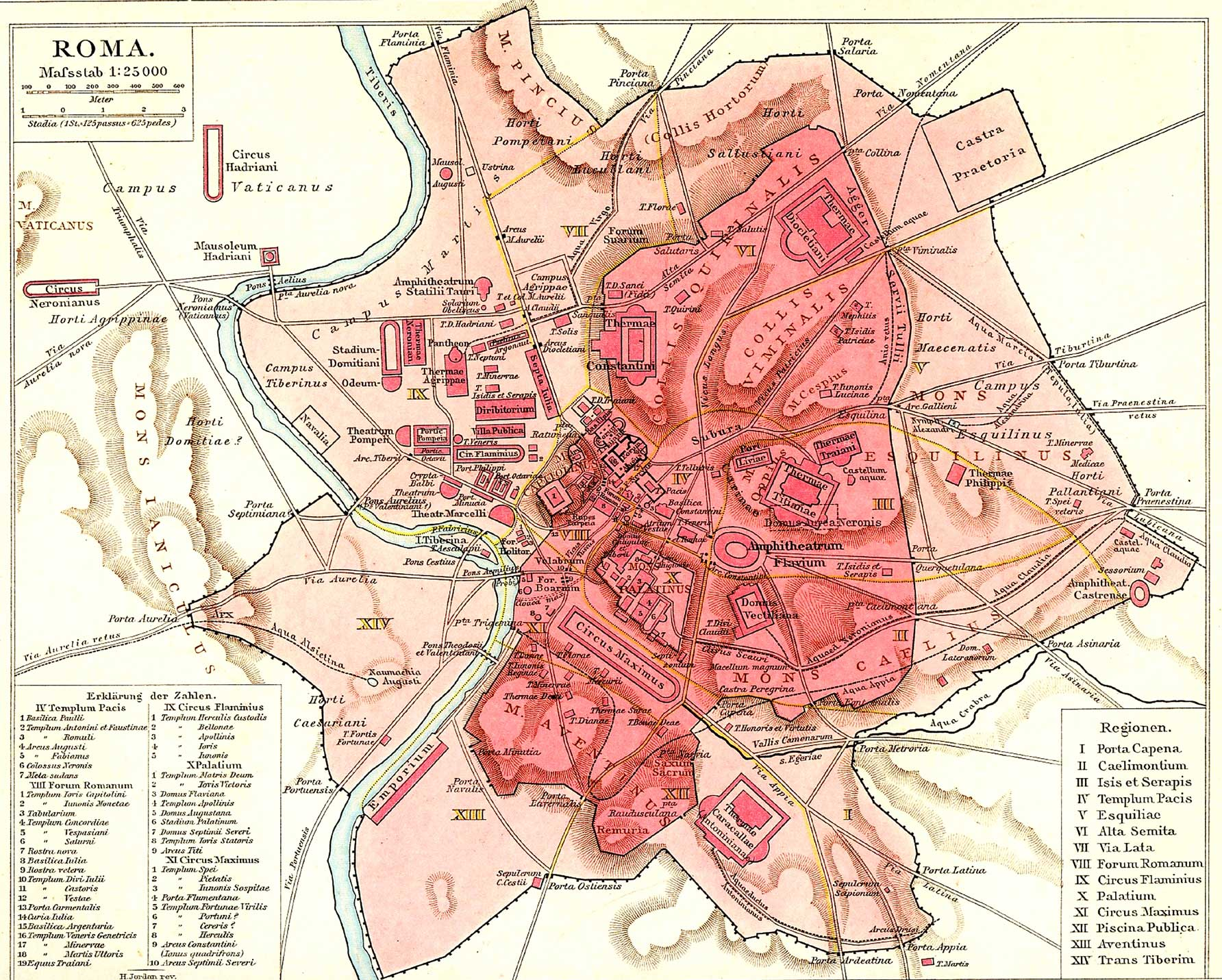 Historical Rome City Map 2 large map