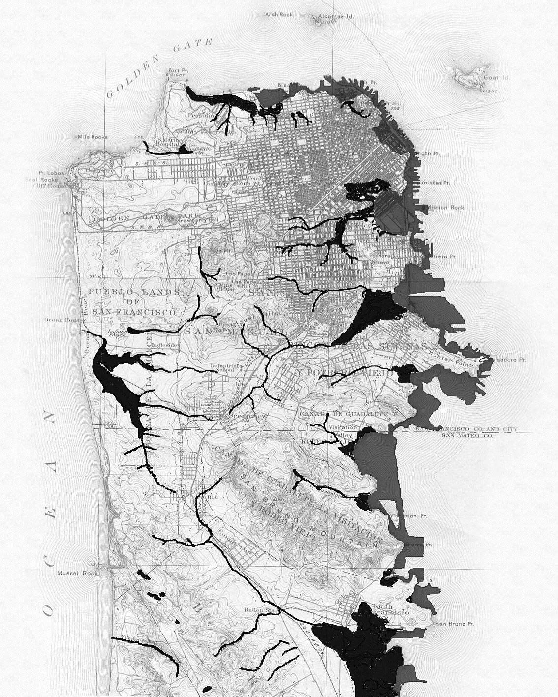 Historical Geological Map San Francisco Mapsofnet