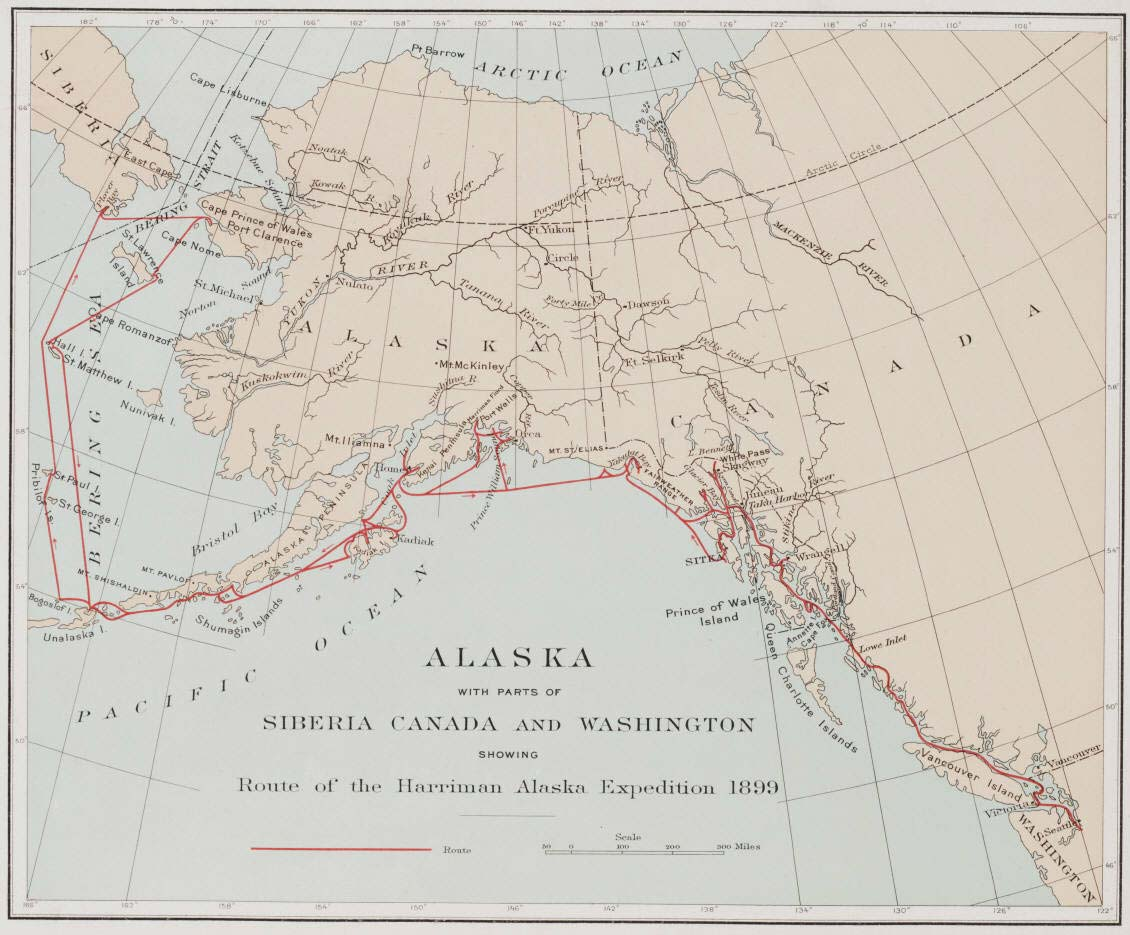 Historical Map Alaska large map