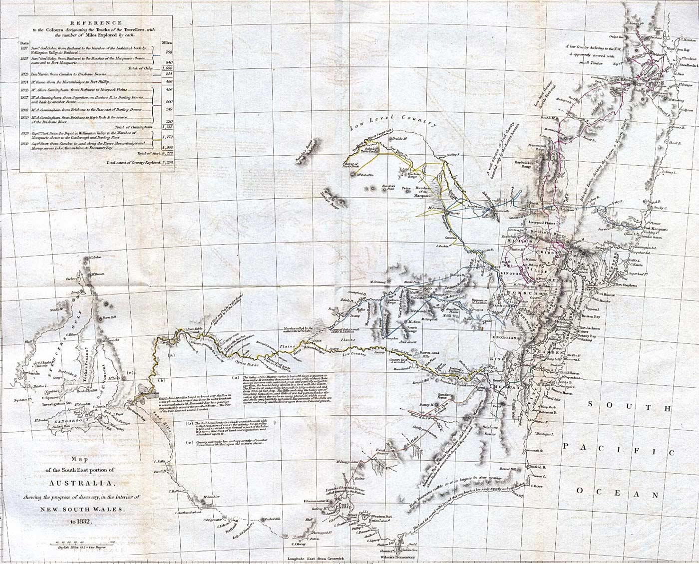 Historical Map Australia Southeast (1832)