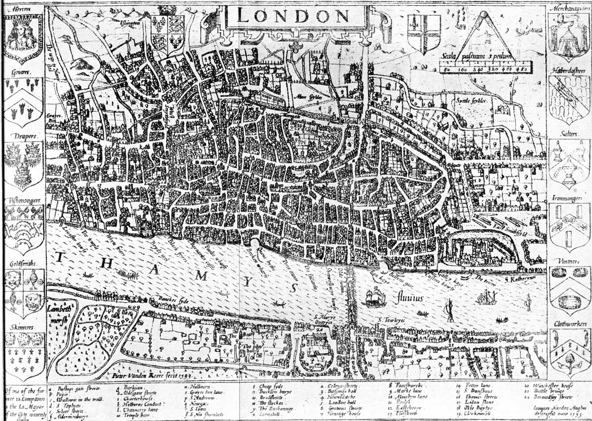 Historical Map London Mapsofnet - London map historical