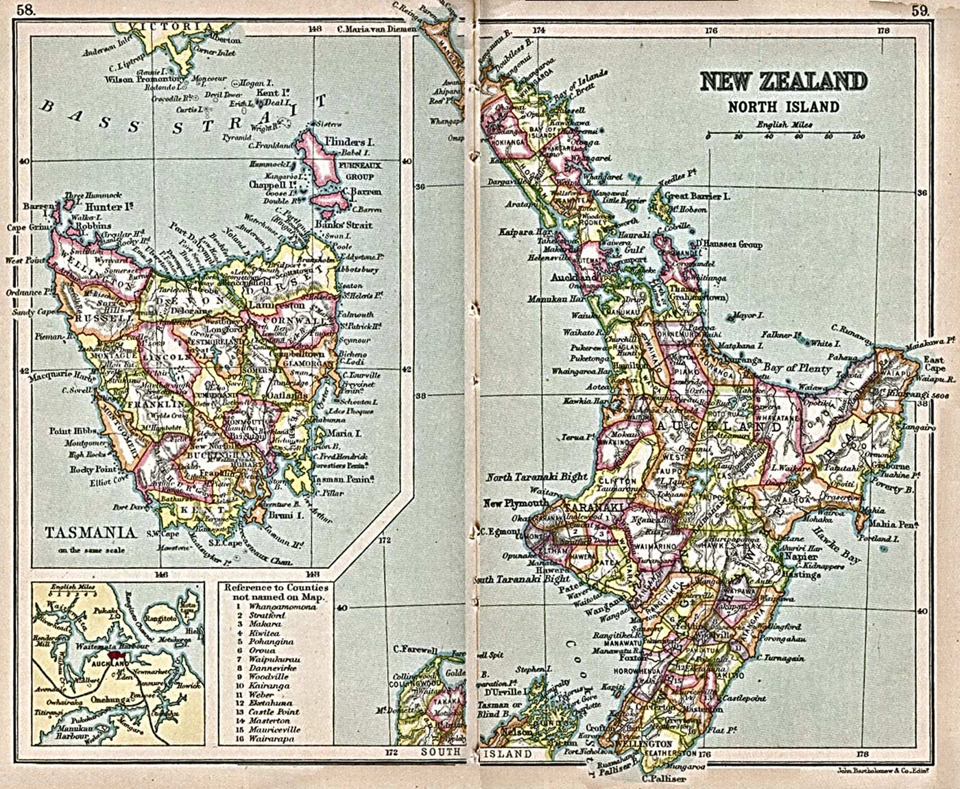 New Zealand North Map.Historical Map New Zealand North Island 1913 Mapsof Net