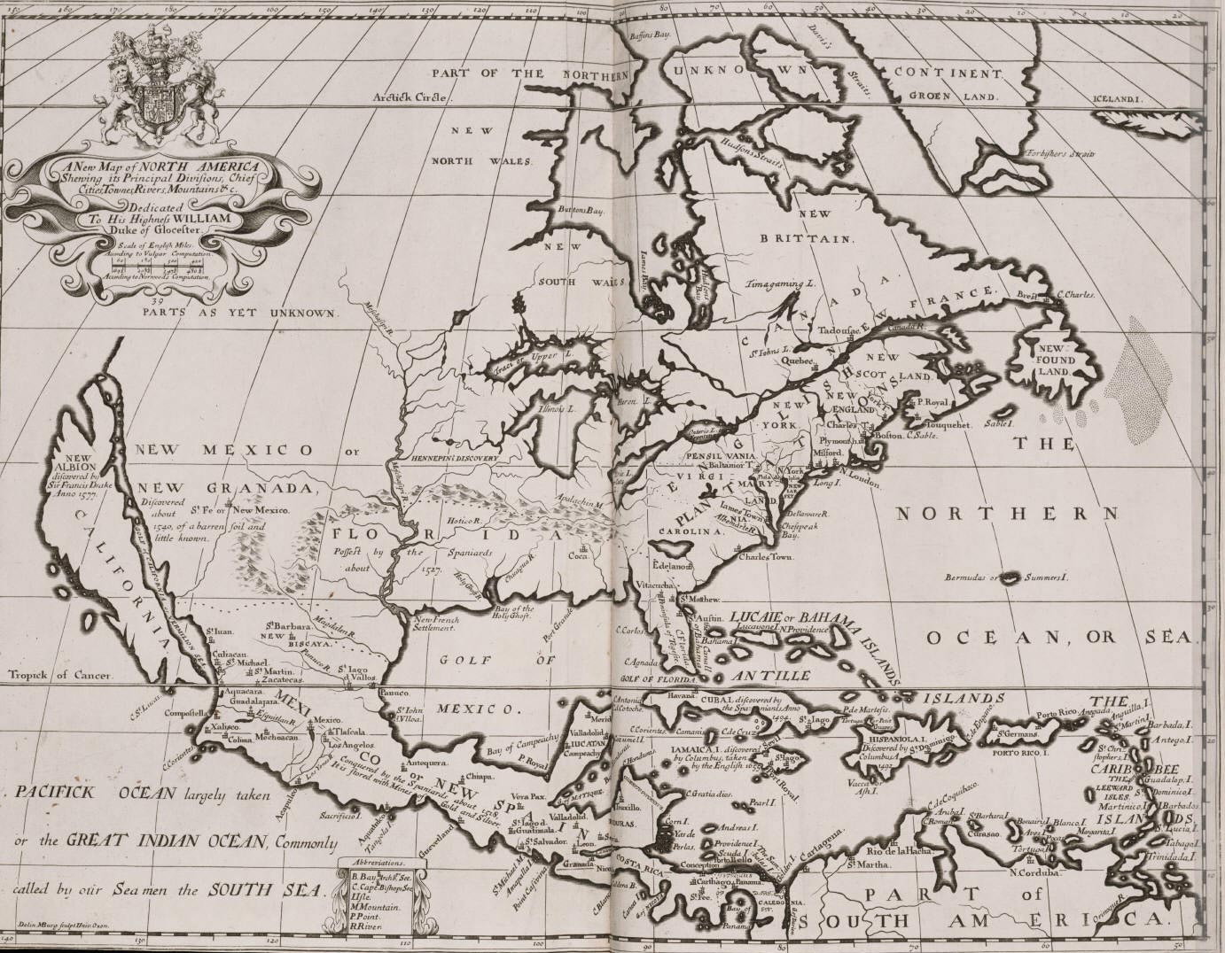 Historical Map North America