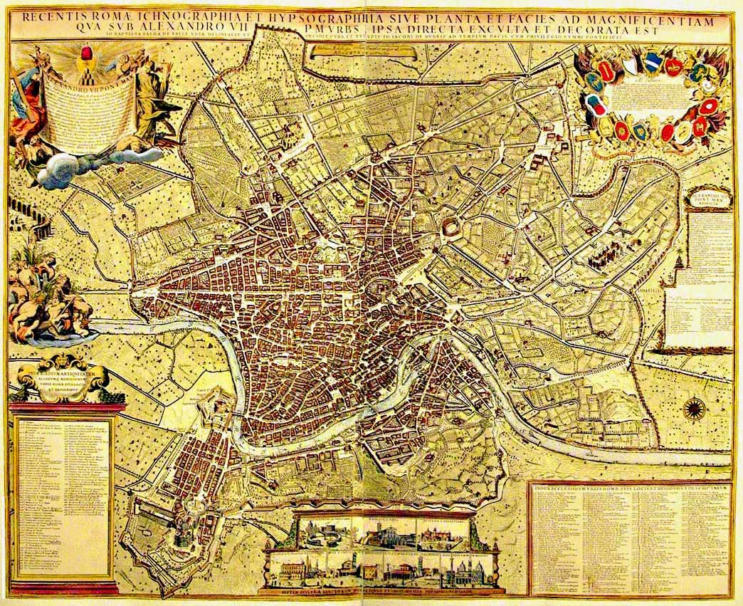 Historical Map Rome large map