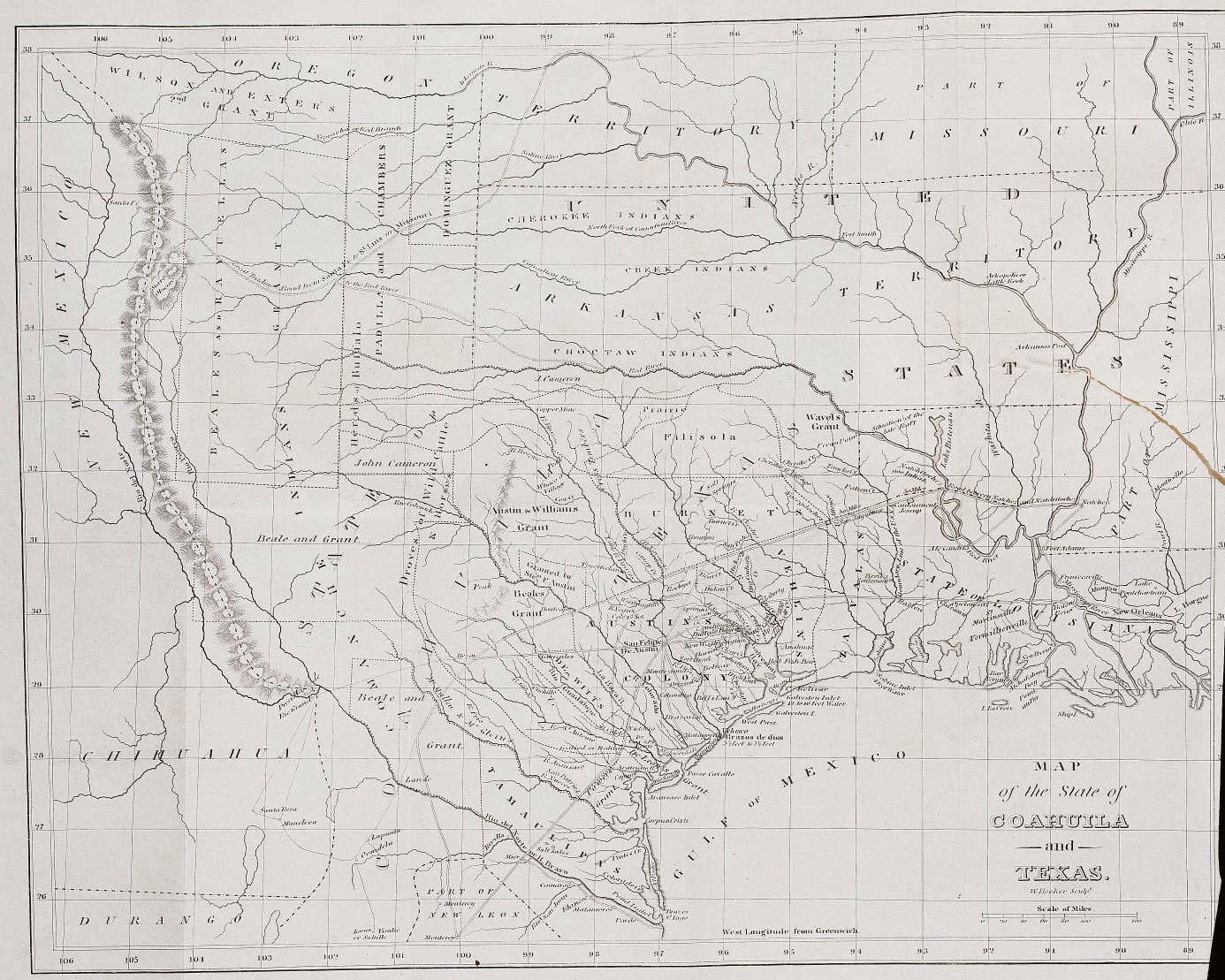 Historical Map Texas large map