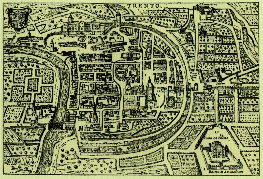 Historical Map Trento large map