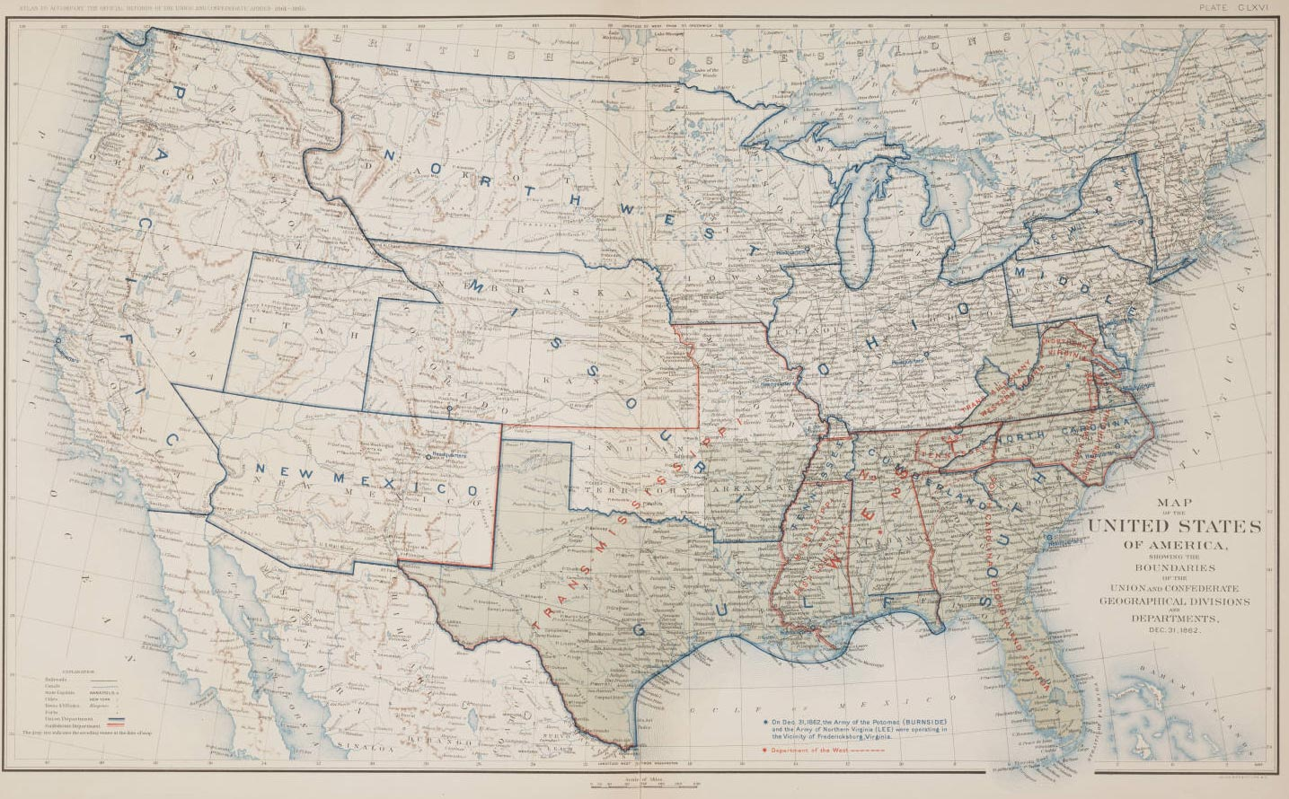 Historical Map United States large map