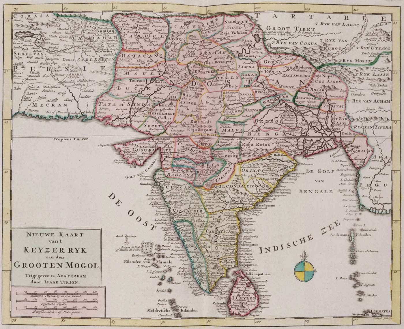 Historical Map India large map