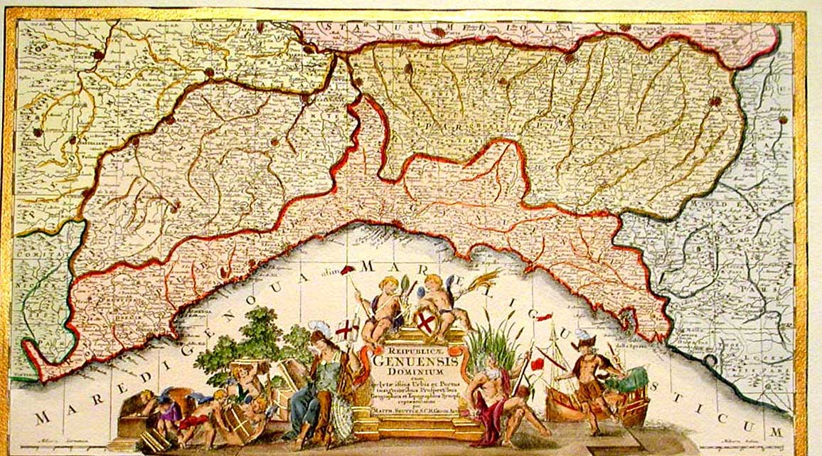 Historical Map Liguria large map