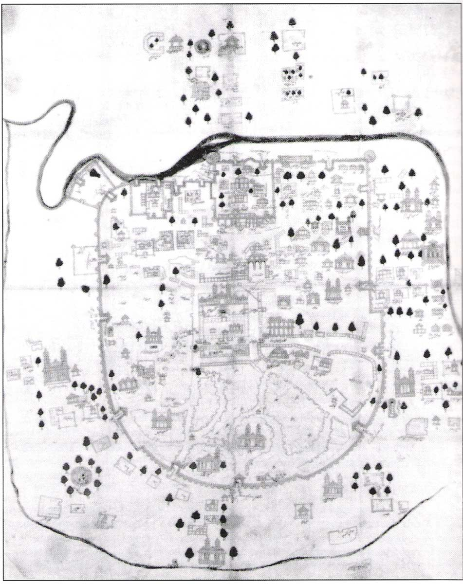 Historical Map of Ahmedabad large map