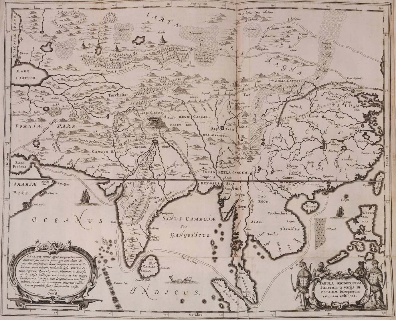 Historical Map of Asia (1670) large map