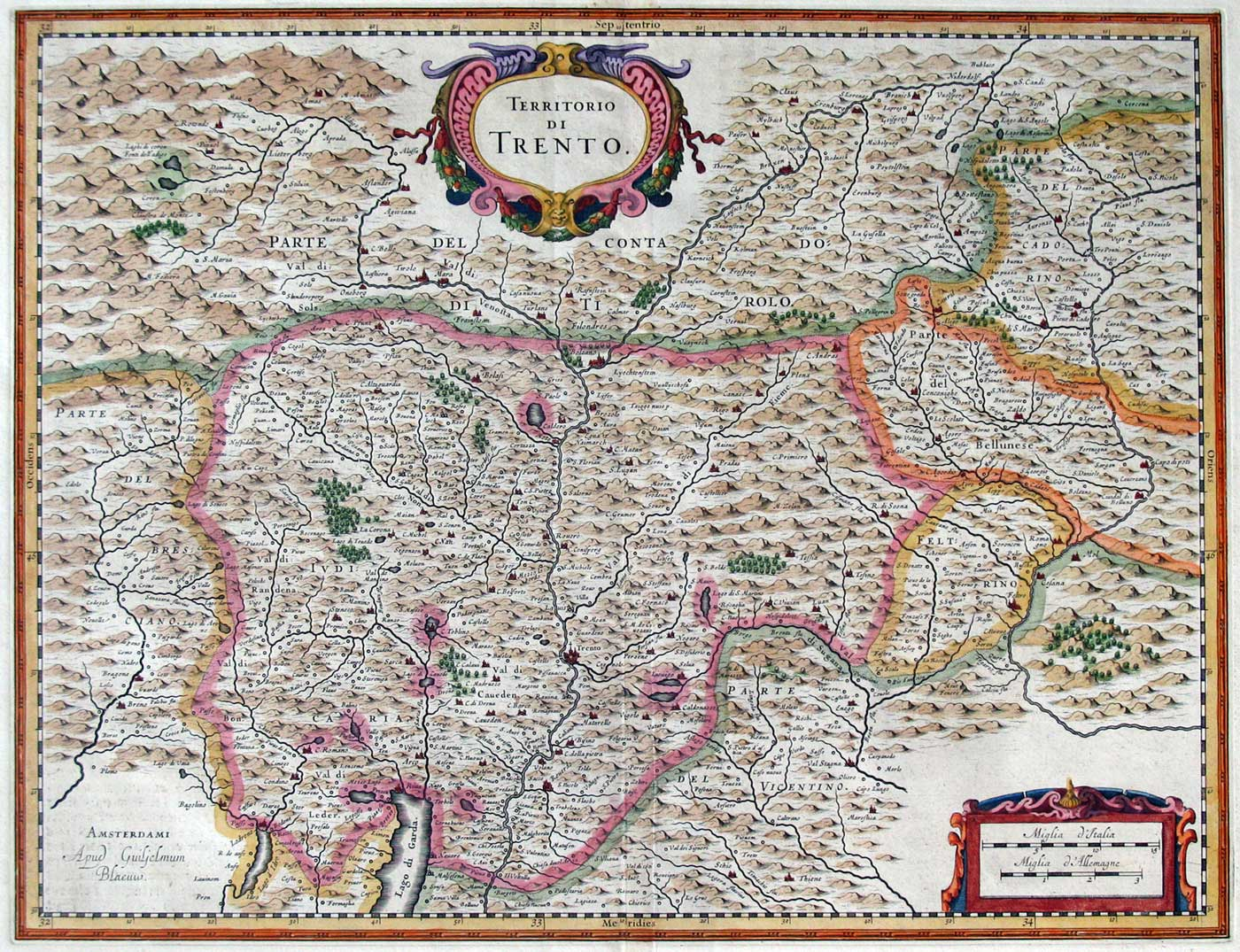 Historical Map of Trento large map