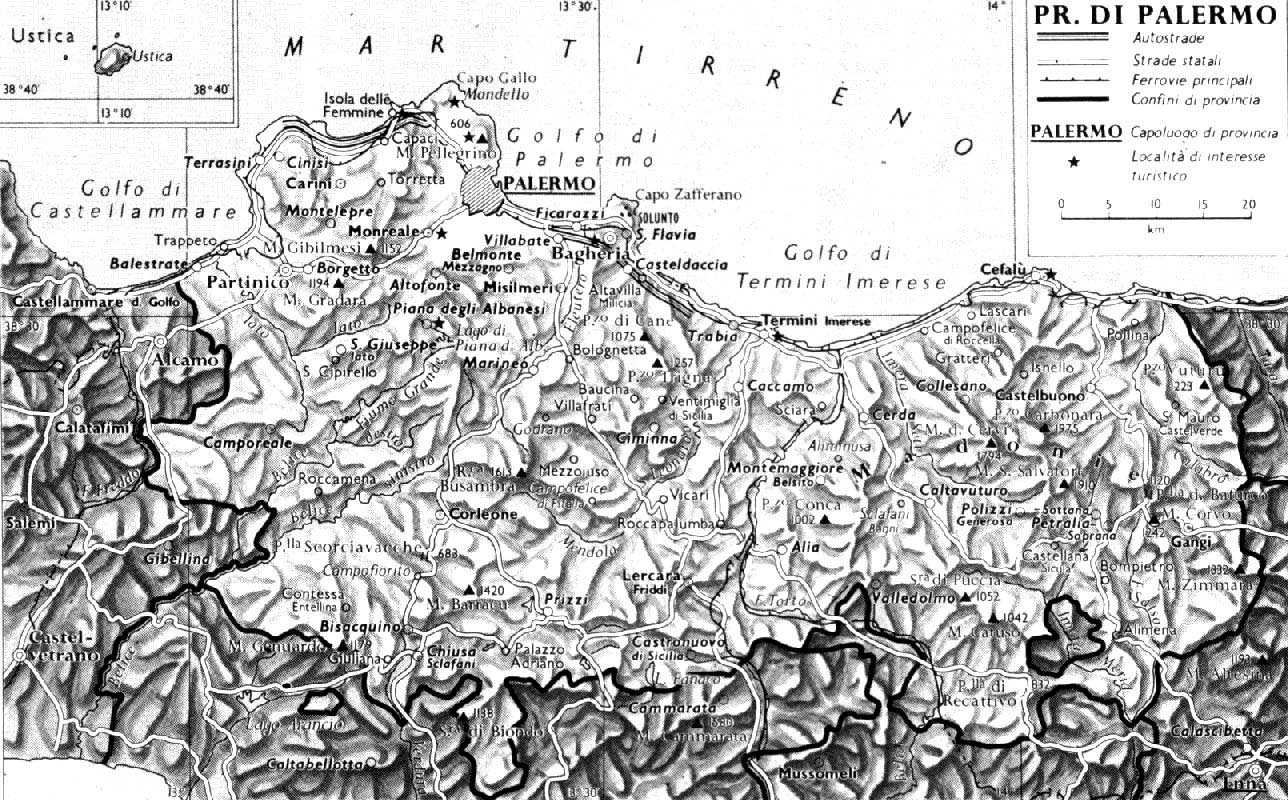 Historical Map of Palermo large map