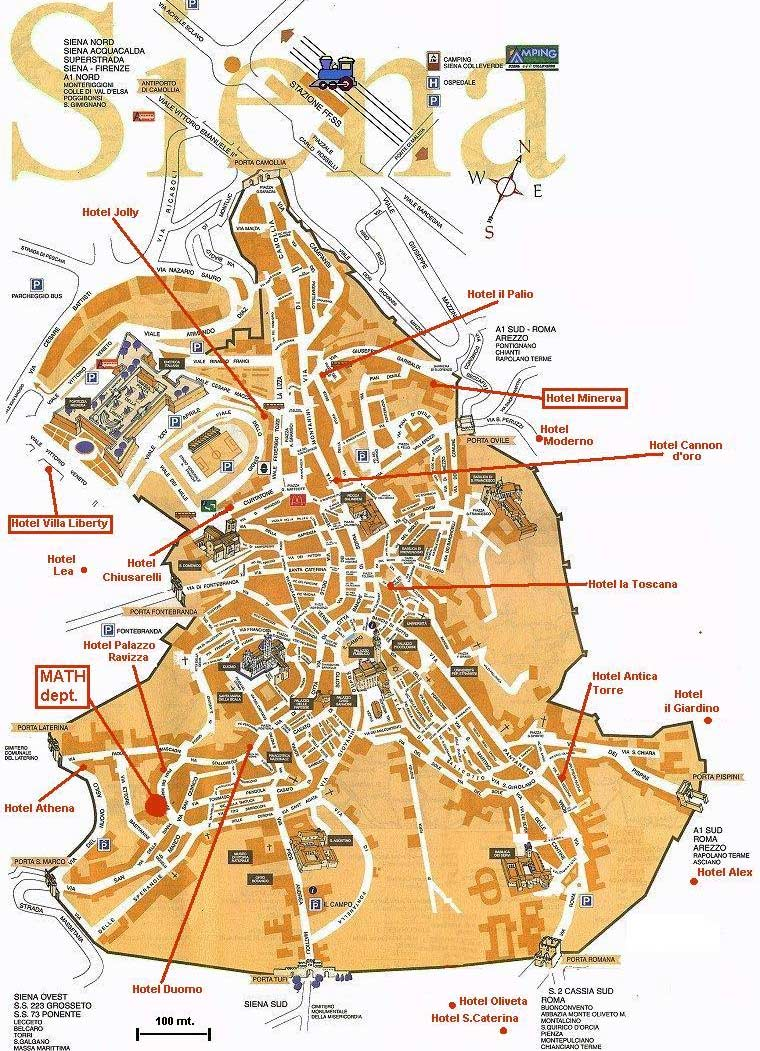 hotel map of siena • mapsofnet - click on the hotel map of siena
