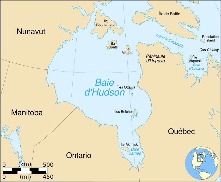Hudson Bay Map Fr Mapsofnet – Map It Canada