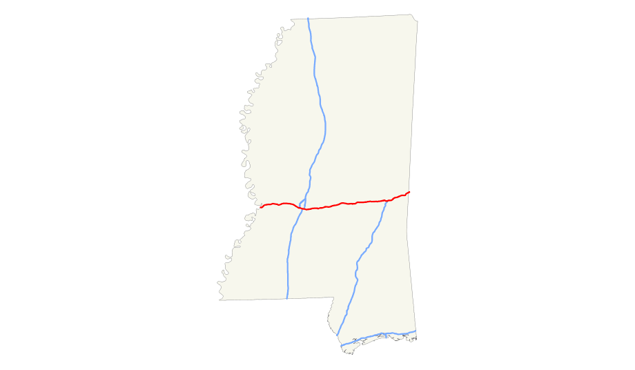 Mississippi Map Counties