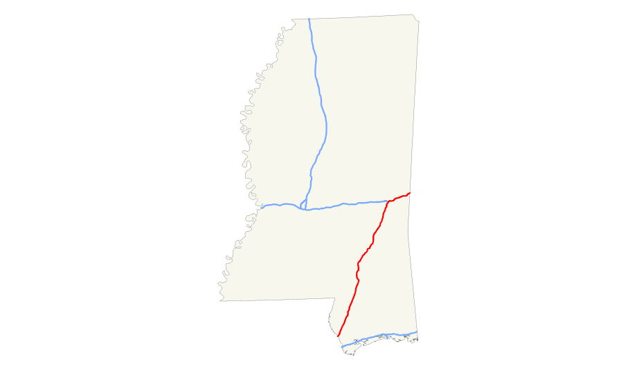 Mississippi maps.