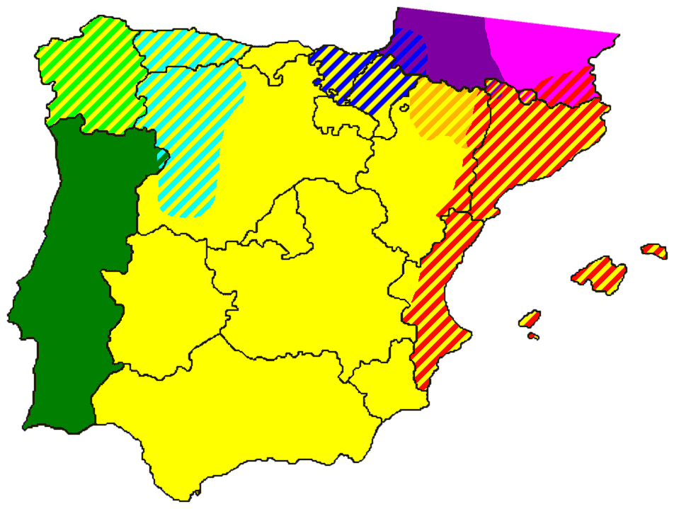 Languages In Spain Map.Iberian Languages Mapsof Net