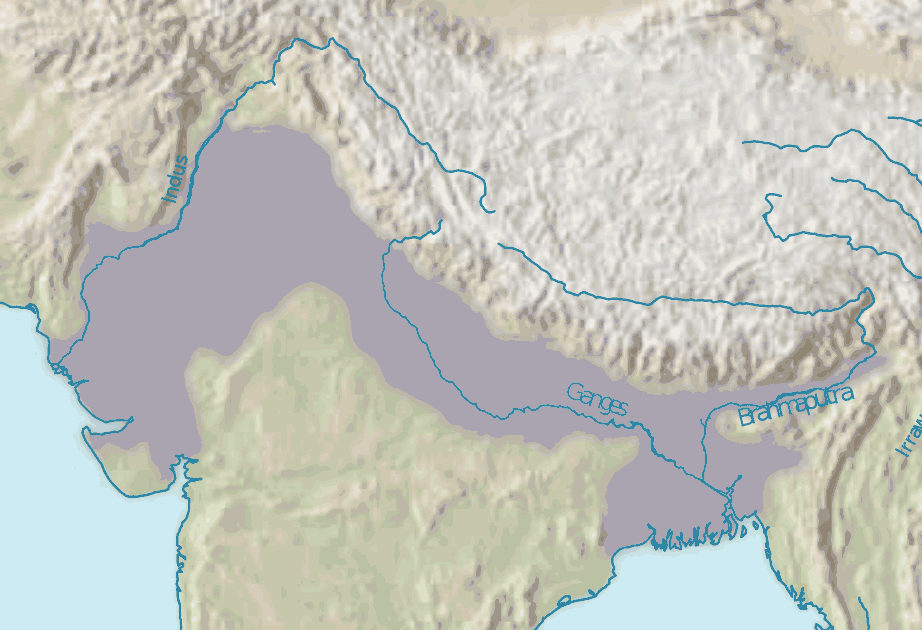 Indo Gangetic Plain large map
