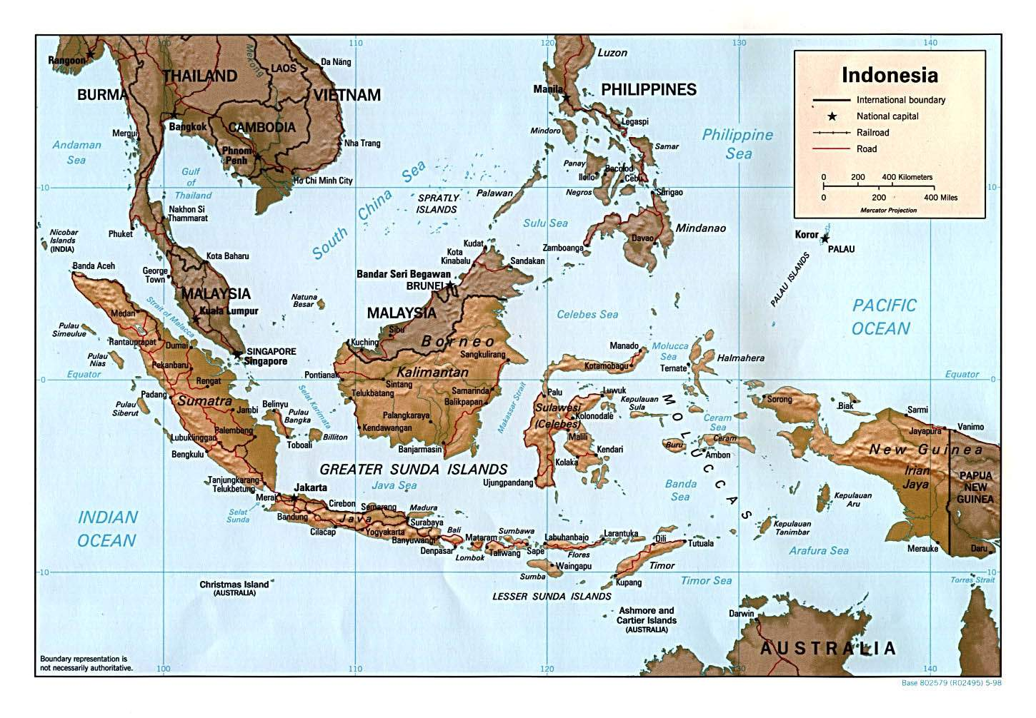 Indonesia Map Physical • Mapsof.net